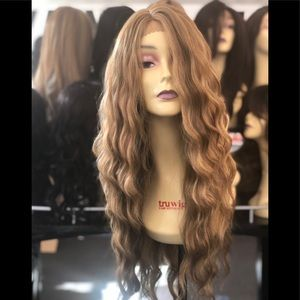 Blonde Long Beach Wave Lace Wig 2020 Hairstyle